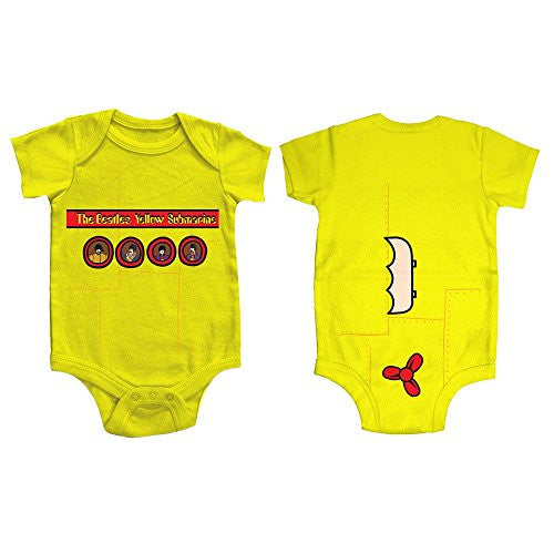 The Beatles Yellow Submarine Onesie Babywear Size 6-12 Months