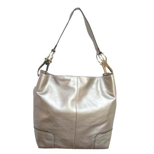 Classic Tall Large TOSCA Hobo Shoulder Handbag Silver Buckles Italy (Silver)