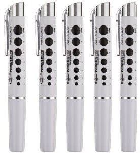 Led Reusable Penlights with Pupil Gauge (Bateries Included)
