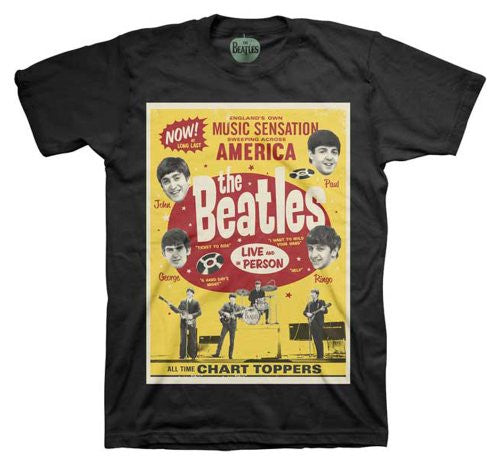 The Beatles Chart Toppers Poster T-Shirt Size XL