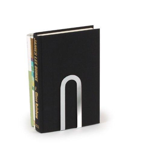 Small Elements Bookends 1/Pair - Chrome