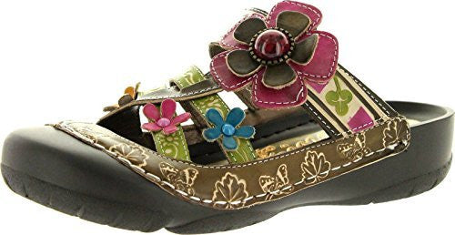 Corkys Womens Elite Moon Clogs,Green Multi,10