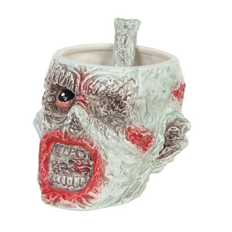 "Zombie Bowl with Spoon 4 1/4"" H"
