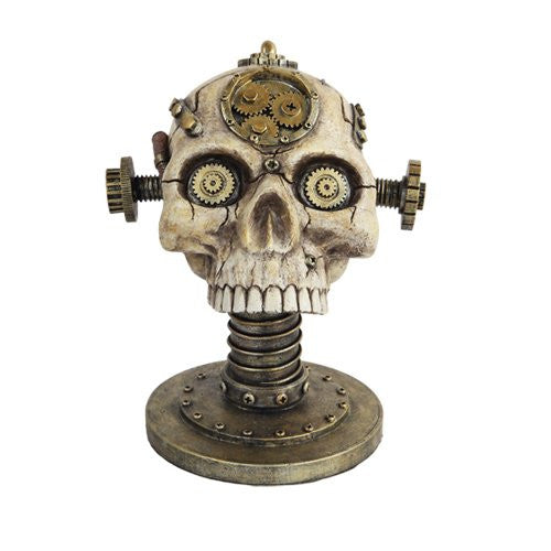 "Steampunk Skull Glasses Holder 7"" x 6 1/2"" x 8"""