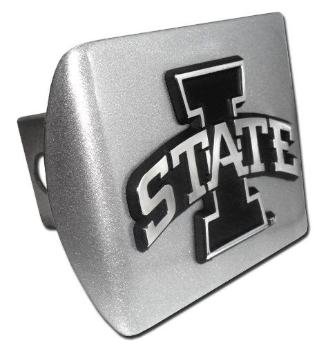 Iowa State (I State) Brushed Chrome Hitch Cover