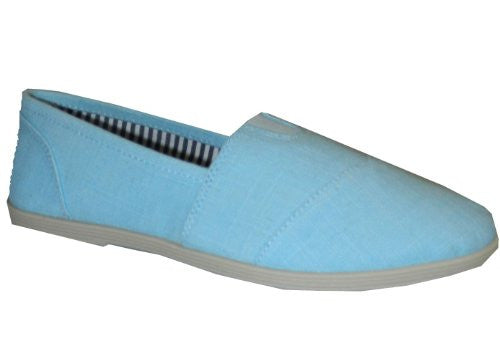 Soda Women Object Flats-Shoes,6.5 B(M) US,Blue Linen
