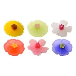 Charles Viancin Set of 6 Floral Drink Markers 4101