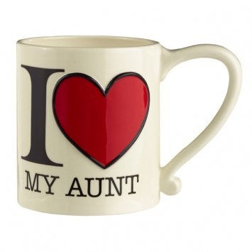 """I (Heart) Love My Aunt"" Mug"