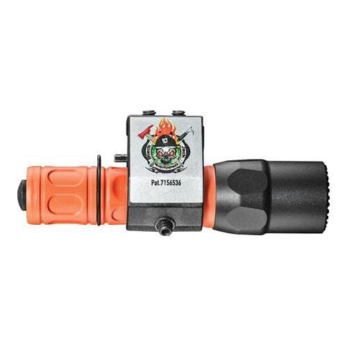 G2X PRO, 6 VOLT, DUAL STAGE 50/320 LU, WH LED, FIREMAN ORANGE POLYMER & ALUM, BLACK, CLICK STYLE SWITCH, WITH BLACK JACK 005 HELMET MOUNT