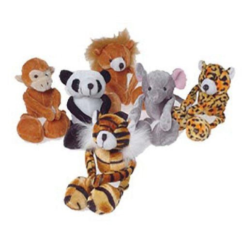 FLOPPY LEG WILD ANIMALS - 12pcs