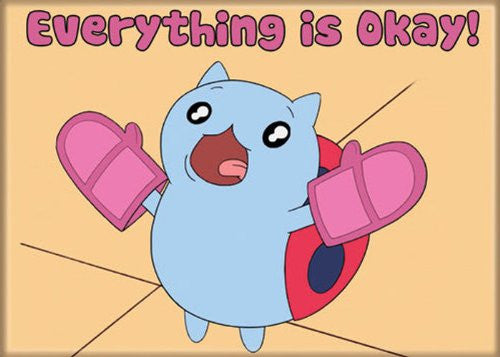Catbug Everything is Okay - PHOTO MAGNET 2 1/2 in. x 3 1/2 in.