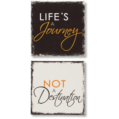 "Word Accents ""Journey/Destination"" Wall Art Set"