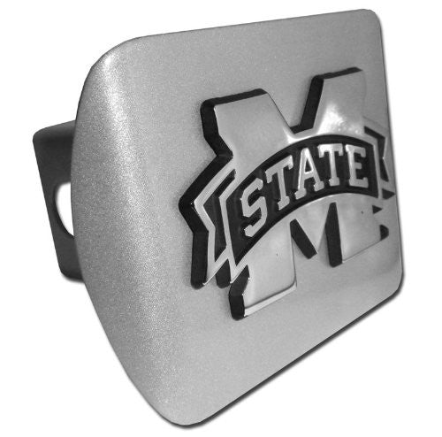 Mississippi State Brushed Chrome Hitch Cover