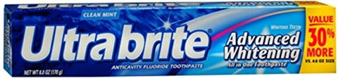 Ultrabrite Toothpaste - Advanced Whitening Clean Mint 6 oz