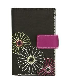 Safe ID Daisy Tri-Fold Wallet - Black