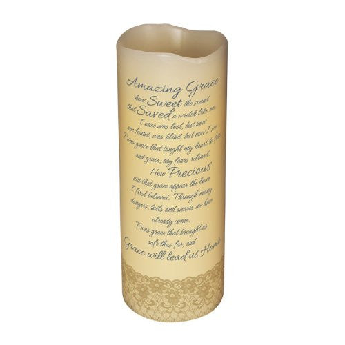 "Abiding Light Scented Flameless Candles ""Amazing Grace"""