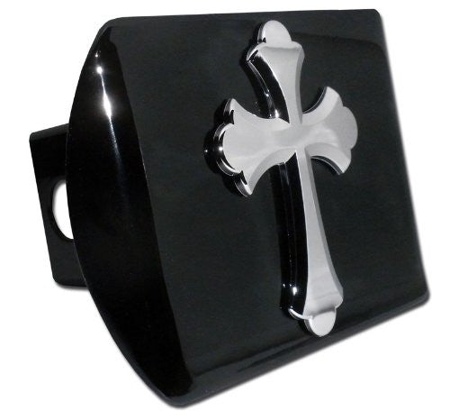 Cross (Ruffled) Black Hitch Cover