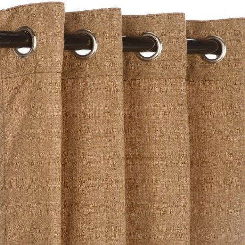 "GROMMET TOP CURTAINS, Linen Sesame 50"" X 120"""