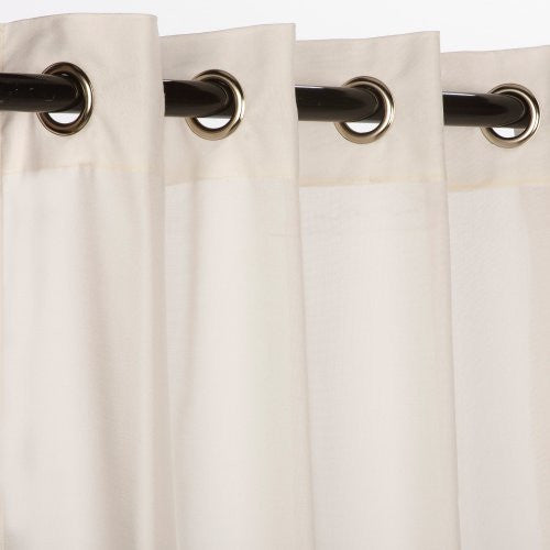 "GROMMET TOP CURTAINS,  Snow (Sheer) 50"" X 108"""