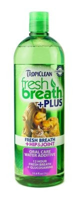 FRESH BREATH WATER ADDITIVE PLUS HIP & JOINT 33.8oz
