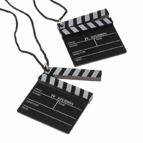 HOLLYWOOD CLAPBOARD NECKLACES - 12pcs