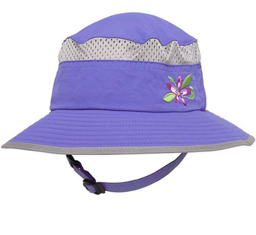Kids Fun Bucket Hat, Youth 5-9 Years, Iris w/ Flower