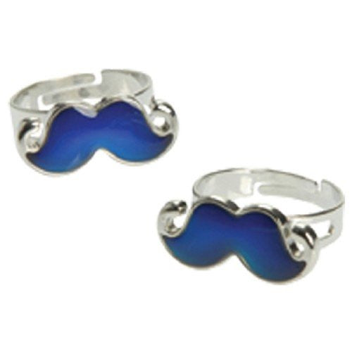 MOUSTACHE MOOD RINGS - 12pcs