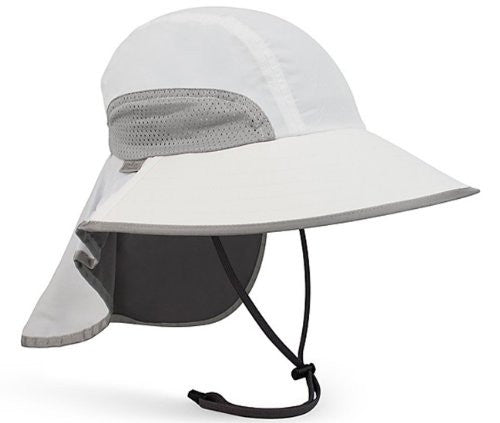 Adventure Hat, Large, White/Charcoal Grey