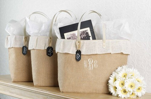 Burlap Bag With Chalkboard Tag