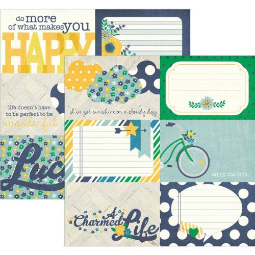 "A Charmed Life Double-Sided Elements Cardstock 12""X12"" - 4""X6"" Horizontal Journaling Cards"