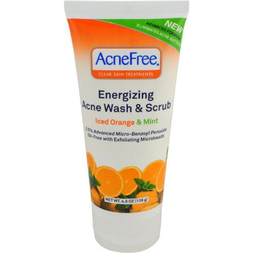 AcneFree Energizing Acne Wash and Scrub, 4.8 Ounce
