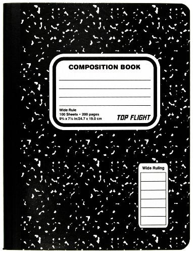 Black Marble Composition Book WR 100 page