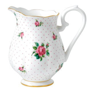 TEA PARTY PINK ROSES PITCHER 7.3""