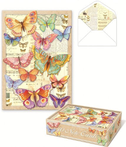 Die-Cut Boxed Cards, Butterfly