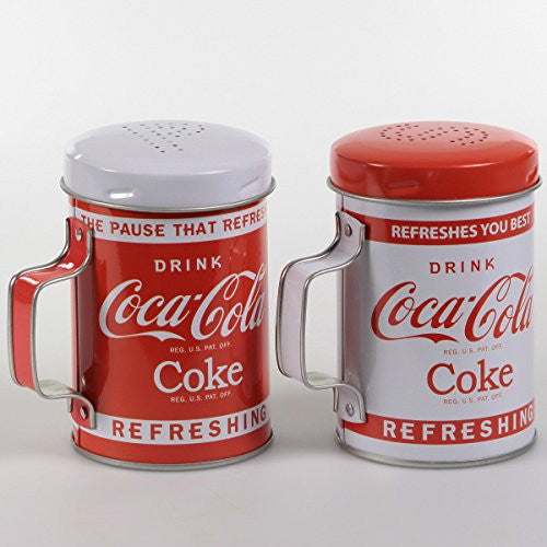 Drink Coke Tin S&P Shakers
