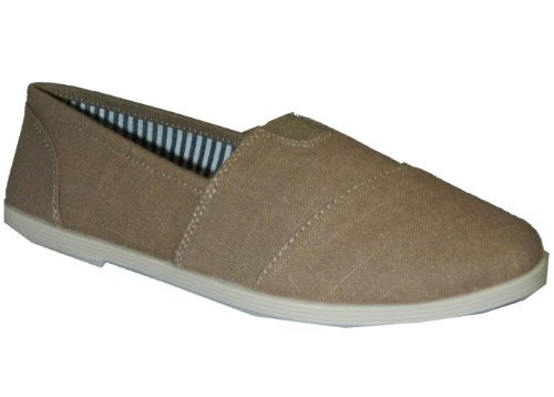 Soda Women Object Flats-Shoes,7 B(M) US,Taupe Linen