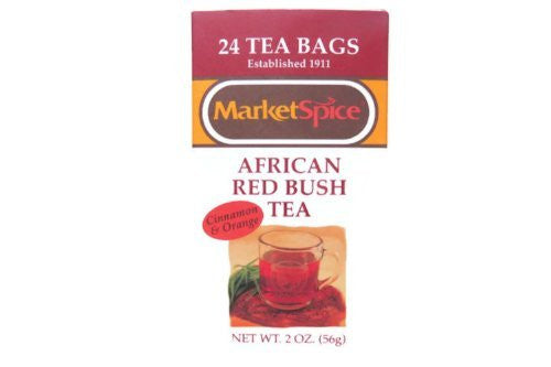 African RedBush Teabags, Cinnamon-Orange , 24 teabags