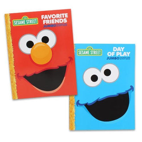 96-page Sesame Street Coloring Books - 2 Pack