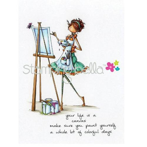 "Stamping Bella Cling Rubber Stamp 4""X2.75"" - Uptown Girl Abigail The Artist"