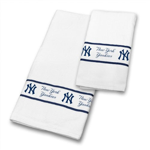 TOWEL SET New York Yankees - Color White - Size 30x54 and 16x30