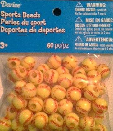 Sports Beads - Softball - 60 pieces