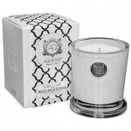 White Iris & Vetiver 11 oz. Candle w/ Lid in Gift Box
