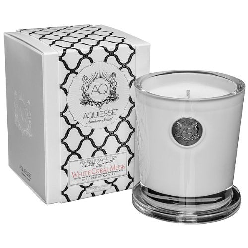 White Coral Musk 11 oz. Candle w/ Lid in Gift Box