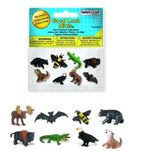Wild America Fun Pack Good Luck Minis 8 Figures