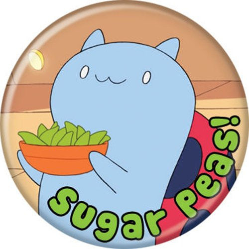 Catbug Sugar Peas - BUTTONS 1 1/4 in. ROUND