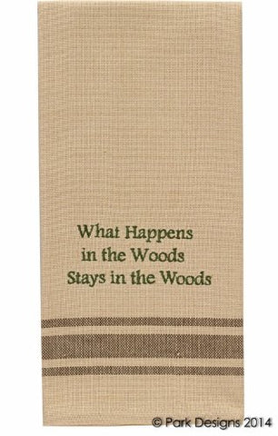 What Happens In The Wood Dishtowel