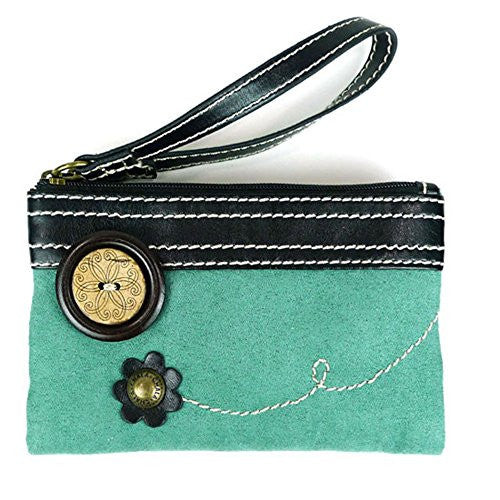 Double Zip Wallet teal