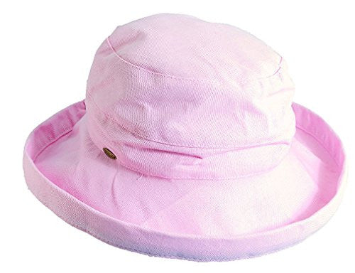 Scala Hats Medium Brim Cotton Hat (PINK)