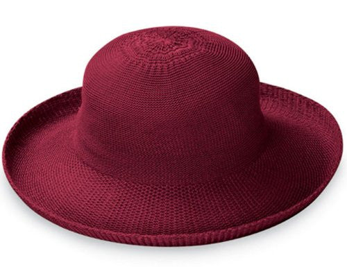 Wallaroo Hat Company Women's Victoria Straw Hat (Cranberry / One Size)