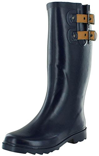 Chooka Top Solid Women's Rain Boots Rubber Wellies Blue Size 7